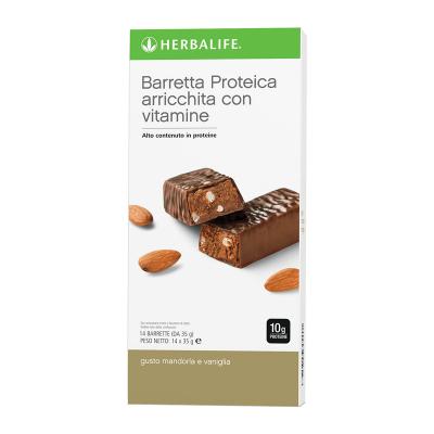 Barrette proteiche Mandorla e Vaniglia 14 barrette