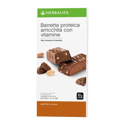 Barrette proteiche Arachidi e Cacao 14 barrette
