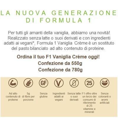 Formula 1 Vaniglia Cream 780g